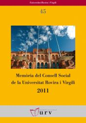 Cover for Memòria del Consell Social de la URV 2011