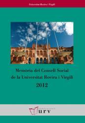 Cover for Memòria del Consell Social de la URV 2012