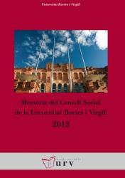 Cover for Memòria del Consell Social de la URV 2013