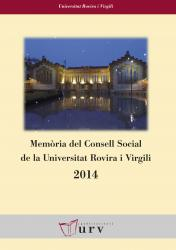 Cover for Memòria del Consell Social de la URV 2014