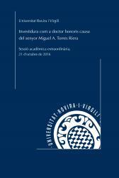 Cover for Investidura com a doctor honoris causa del senyor Miguel A. Torres Riera