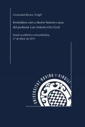 Cover for Investidura com a doctor honoris causa de l'Excm. Sr. Luis Antonio Oro Giral