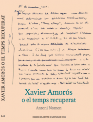 Cover for Xavier Amorós o el temps recuperat