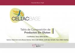 Cover for CELIACBASE. Tabla de composición de productos sin gluten