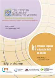 Cover for 12th European Congress of Integrative Medicine: 1st International Symposium on Integrative Health and Education